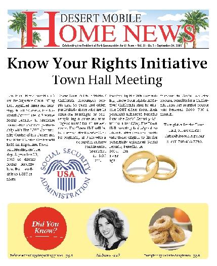 September 24, 2015 Desert Mobile Home News