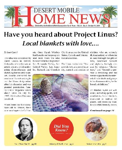 October 15, 2015 Desert Mobile Home News