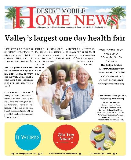 October 22, 2015 Desert Mobile Home News