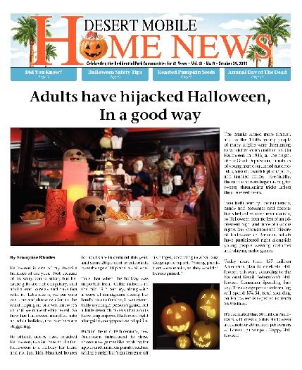 October 29, 2015 Desert Mobile Home News