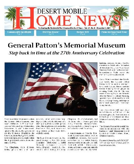 November 5, 2015 Desert Mobile Home News